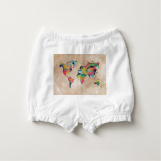 world map colors nappy cover