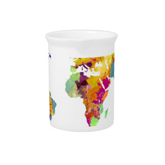 world map colors pitcher