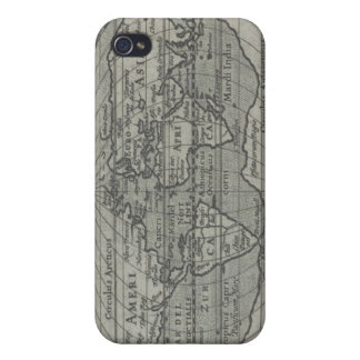 World Map Cover For iPhone 4
