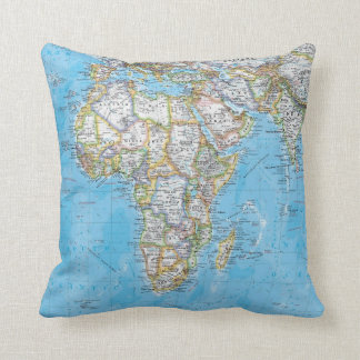 World Map Custom Pillow