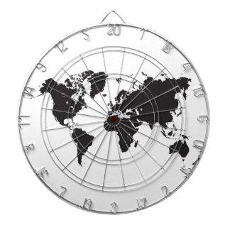 world map dart board