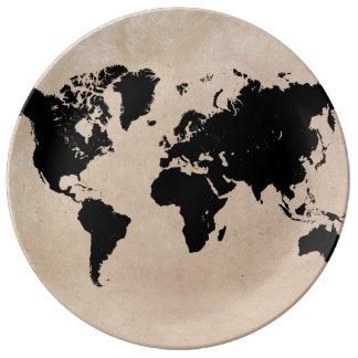 world map Decorative Porcelain Plate