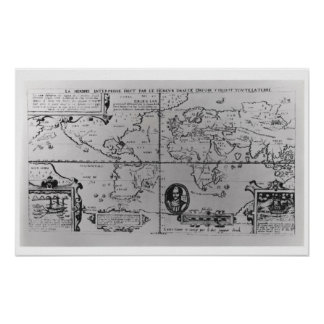 World Map detailing the Expeditions Poster