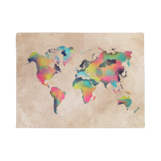 world map Door Mat