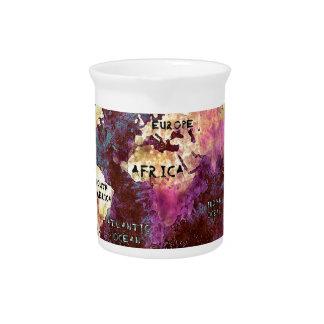 world map drink pitchers