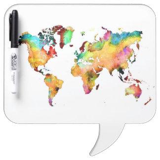 world map dry erase board