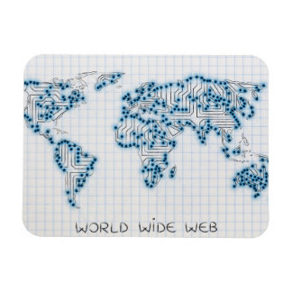 World Map | Electronic Microchip Circuits Magnet