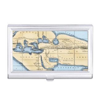 WORLD MAP: ERATOSTHENES BUSINESS CARD HOLDER