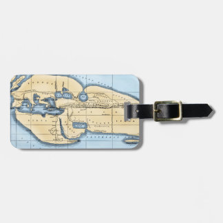WORLD MAP: ERATOSTHENES LUGGAGE TAG