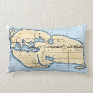 WORLD MAP: ERATOSTHENES LUMBAR CUSHION