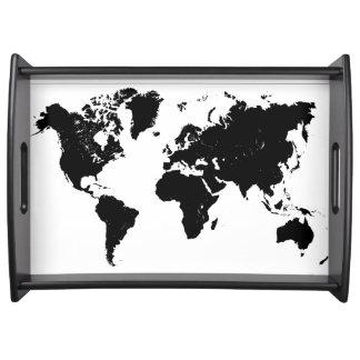 WORLD MAP FOOD TRAYS