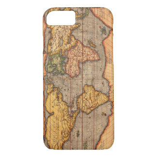 World map from 1601 iPhone 7 case