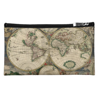 World Map from 1689 Cosmetic Bags