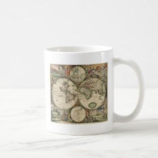World Map from 1689 Mugs