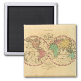 World Map from Antiquity 1 Square Magnet