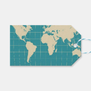 World map gift tags zazzle world map gift tag gumiabroncs