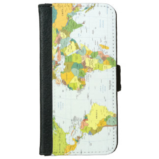 World Map Globe Atlas Countries iPhone 6 Wallet Case