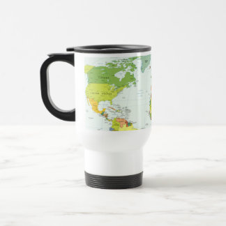 World Map Globe Atlas Countries Coffee Mug