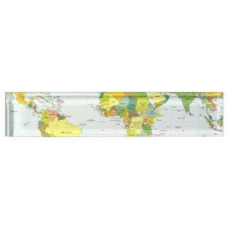 World Map Globe Atlas Countries Name Plate