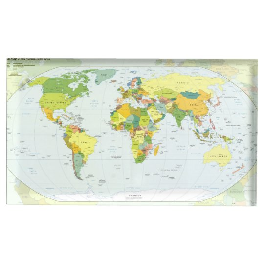 World Map Globe Atlas Countries Place Card Holder