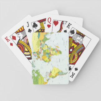 World Map Globe Atlas Countries Playing Cards