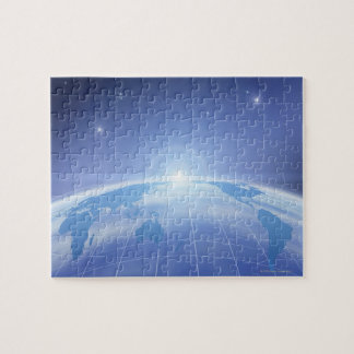World Map in Space Jigsaw Puzzle
