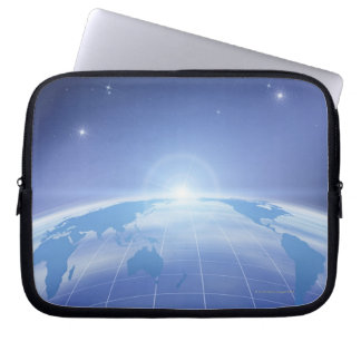 World Map in Space Laptop Sleeve
