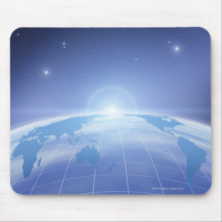 World Map in Space Mouse Pad