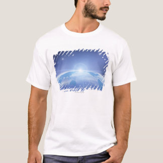 World Map in Space T-Shirt