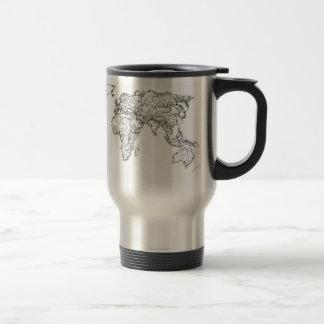 World Map ink drawing Coffee Mug
