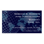 World Map International Telecommunications Blue Double-Sided Standard Business Cards (Pack Of 100)