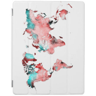 world map iPad cover