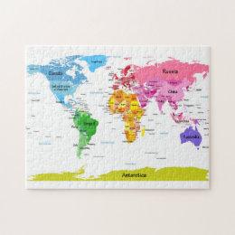 Political jigsaw puzzles zazzle world map jigsaw puzzle gumiabroncs Gallery