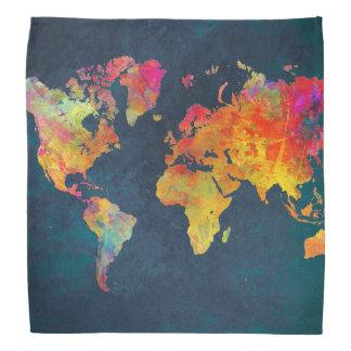 world map kerchief