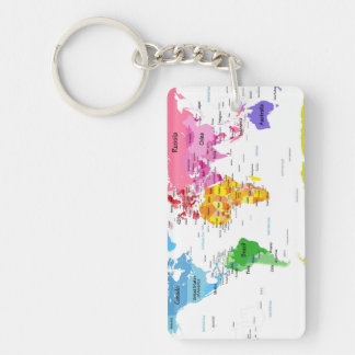 Political map key rings political map key ring designs zazzle world map key ring gumiabroncs Image collections
