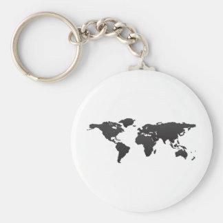 World Map Key Ring