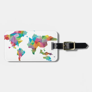World Map Made of Geometric Shapes Luggage Tag