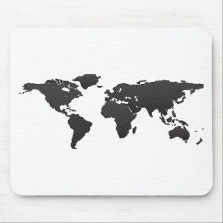 World Map Mouse Mat