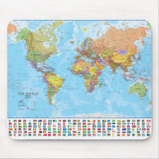 World Map Mousepad Mousemat