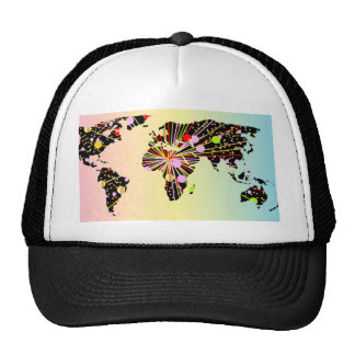 World Map New Year Cap
