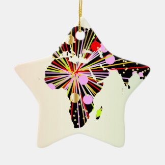 World Map New Year Christmas Ornament