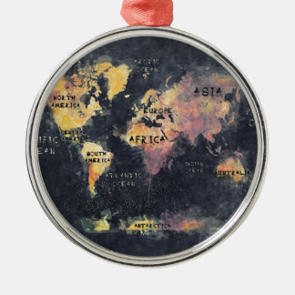 world map OCEANS and continents Christmas Ornament