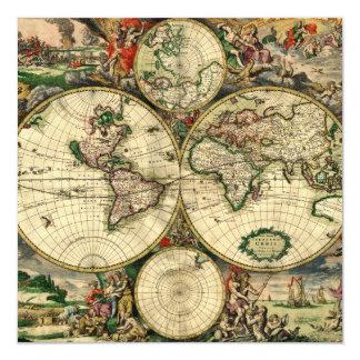 World Map of 1689 Gifts Custom Invites