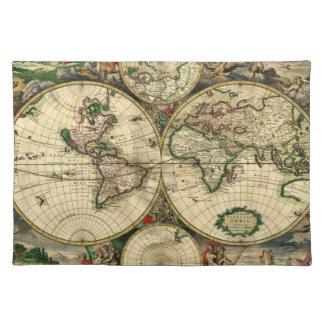 World Map of 1689 Gifts Placemat