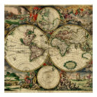 World Map of 1689 Gifts Poster