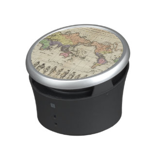 World Map of Clothing Styles Bluetooth Speaker