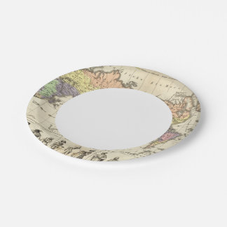 World Map of Clothing Styles Paper Plate