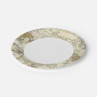 World Map of Diseases Paper Plate
