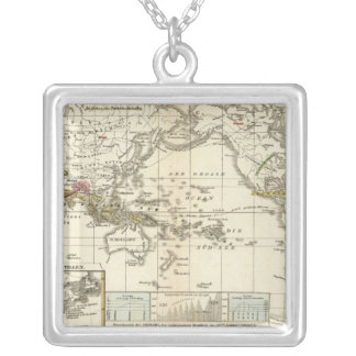 World Map of Diseases Silver Plated Necklace