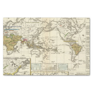 World Map of Diseases Tissue Paper